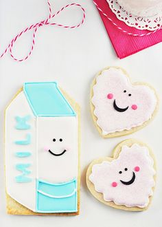 Milk & Cookie Cookies for Santa by Sweetapolita, via Flickr