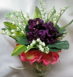 African Violets and Lily of the Valley Wedding by shannonkristina, $55.00
