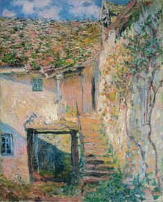 Claude Monet - l'escalier