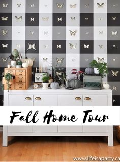 Fall Home Tour: Vintage Botanical Scientific Decor with Boho Maximalist Influence means lots of plants, insects, and pumpkins. Welcome to our fall home tour. I've been busy transforming our home, and I love how it's turned out. It's a little different. A little more full, with so many interesting and collected finds. I'd call this […] The post Fall Home Tour appeared first on Life is a Party.