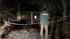 A German policeman stands at the spot in Bavaria where six teens were found dead