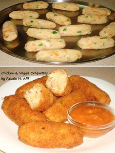 Chicken & Veggie Croquettes | Fauzia's Kitchen Fun