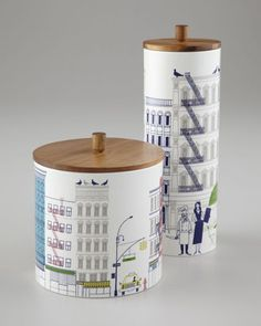 kate spade new york About Town Canisters Kate Spade