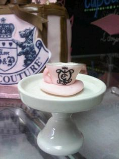 Juicy Couture Cupcake Tea Cup Charm Toppers