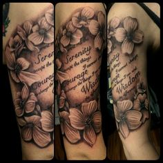 Flowers in black and grey