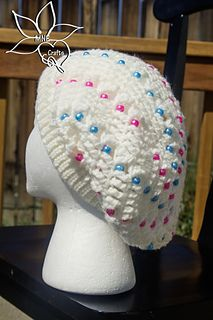 Teen Bling Slouch Beanie, crochet pattern by Manda Nicole for sale on Ravelry