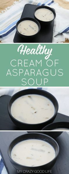 Making healthy choices is much easier when there are delicious options! You can make a batch of this quick and easy cream of asparagus soup to fight those cravings. It's also really easy to make this cream of asparagus soup vegan. Healthy Slow Cooker, Healthy Crockpot Recipes, Lunch Recipes, Soup Recipes, Dinner Recipes, Family Recipes, Cooker Recipes, Easy Recipes, Recipes