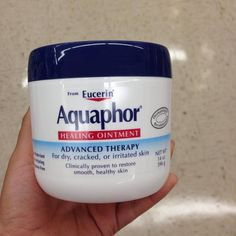 But if your skin's only dry in certain areas, use a heavier ointment like Aquaphor twice a day.