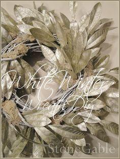 DIY winter wreath tutorial