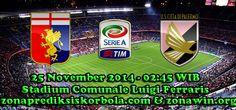 Prediksi Genoa vs Palermo, Dari pertandingan ajang liga Italia pekan ke 12 akan mempertemukan Genoa yang akan menghadapi Palermo