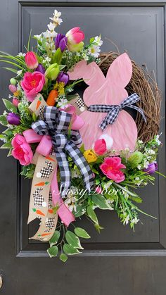 101 Cute Easter Wreaths You'll Want to Keep on Your Front Door - In this article series, we'll discuss the elements of shopping to select the perfect outdoor wreath to compliment the area you have in mind. Outdoor w. Easter Wreaths, Holiday Wreaths, Christmas Decorations, Yarn Wreaths, Floral Wreaths, Burlap Wreaths, Mesh Wreaths, Diy Christmas, Dyi