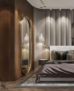 Luxury Bedroom Design, Master Bedroom Design, Interior Design, Bedroom Wall Designs, Bedroom Decor, Bedroom Design Inspiration, Luxurious Bedrooms, Residential Complex, Leather Wall Panels