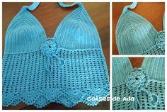 Coisas de Ada: Top em crochê, By Ada