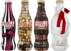 Most recently we have seen them work with Karl Lagerfeld. Up next is a collaboration with Italian fashion house Gianfranco Ferre. The line-up includes 4 extravagant Coca-Cola Light bottles that will be releasing in the coming weeks.
