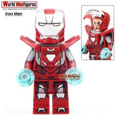 DE-Mark33 Iron Man Single Sale Decool 0246 Super Hero The Avengers Building Blocks With Base Minifigures Best Children Gift Toy