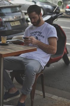 Weekend Keith Grey jeans rolled up sleeve white t shirt streetstyle fashion men tumblr