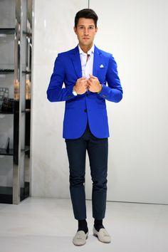 Bright blue blazer!