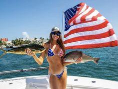 Happy 4 Of July, 4th Of July, Patriotic Bikini, Kodak Moment, Fishing Girls, Saltwater Fishing, Bikini Babes, Key West, Country Girls