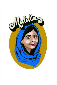 Malala, 2018 Pigment Ink, Limited Edition Prints, Watercolor Paper, Disney Characters, Fictional Characters, Pure Products, Fine Art, Wall Art, Studio