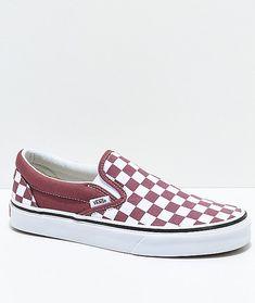 Vans Slip-On Apple & White Checkered Skate Shoes | Zumiez