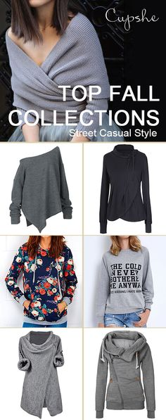 Cold never bothers me anyway! This season, Cupshe gonna give you both warm and beauty. Pretty designed sweaters and tops with soft fabric will heat your confident street style~ FREE shipping & Shop now!