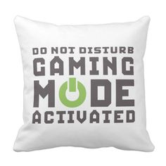 Gamer pillow for the hard core gaming man cave.