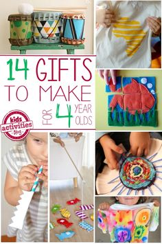 Gifts for Make for 4 year olds! These are simple things you can make that will delight preschoolers...love this!