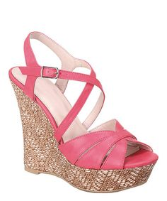 Another great find on #zulily! Coral Baja Wedge Sandal #zulilyfinds