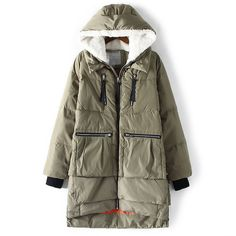 Militar de corea del traje chaqueta con capucha mujer cordero chaqueta de la…