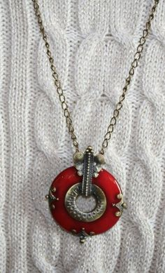 Unique Antique Bronze Pendant Necklace   123gemstones - Jewelry on ArtFire