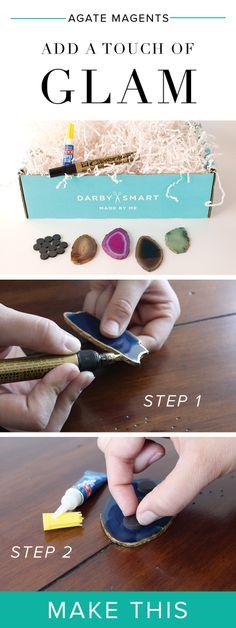 #DIY Agate Magnets #darbysmart