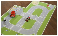 PAPER TOY Road playground by Dignav on Etsy, $4.90
