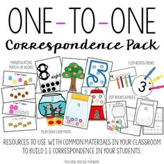 Tools for Building One-to-One Correspondence | Teaching Special Thinkers