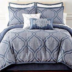 New Bedroom Bed Ideas Comforter Sets Master 36 Ideas Elegant Comforter Sets, Blue Comforter Sets, Bedding Sets, King Size Comforters, King Bedroom, Bedroom Black, Master Bedrooms, Home Decor Bedroom, Bedroom Ideas