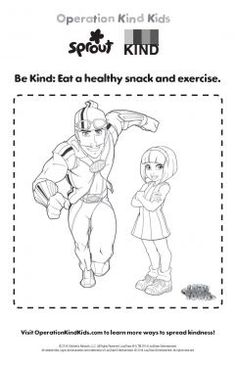 Healthy Kind Kids – LazyTown Coloring Pages for Kids   Sprout