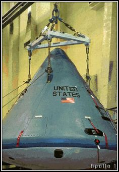 Apollo 1 Mission Pictures: Apollo 1 Mission and Fire Pictures - Command Module before fire