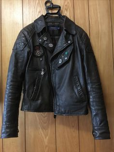 Ralph Lauren motorcycle jacket. Photo by David Hunter. Motorcycle Leather 1752d11bf