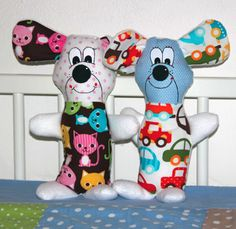 Soft Toy Pattern + Tutorial ~ Pinky + Blue « Sew,Mama,Sew! Blog