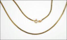 A 14 KARAT YELLOW GOLD NECKLACE. Lot 150-7210 #jewelry
