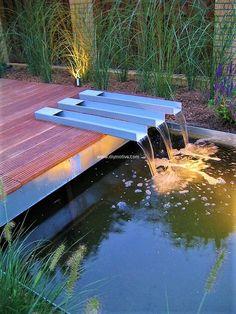 The Best Stone Waterfalls Backyard Ideas – Pool Landscape Ideas Pond Design, Landscape Design, Garden Design, Garden Waterfall, Small Waterfall, Carpe Koi, Backyard Water Feature, Modern Water Feature, Patio Layout