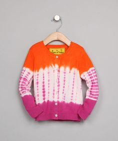 Orange Mai Tie-Dye Linen-Blend Cardigan - Toddler & Girls by Peace of Cake on #zulily today