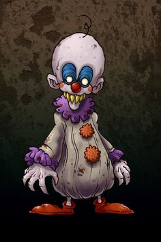 A scary clown I drew for a tutorial on DragoArt.com. Check it out: