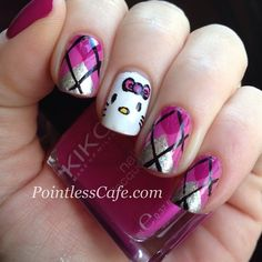 hello kitty by pointlesscafe  #nail #nails #nailart