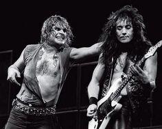 Ozzy and former guitarist Jake E. Jake E Lee, Ozzy Osbourne Black Sabbath, Gus G, Black Label Society, Rock In Rio, Heavy Metal Bands, Rock Legends, Led Zeppelin, T Rex