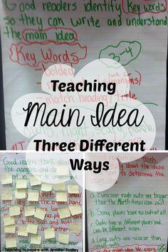 Teaching main idea c