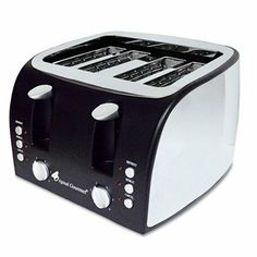 Coffee Pro - Multi-Function Toaster With Adjustable Slot Width Black/Stainless Steel quot;Prod at Electronics and Accessories Lists Products - coffee pro 4 slice multi function toaster with adjustable slot width black stainless steel quotprod Small Kitchen Appliances, Cool Kitchens, Kitchen Small, Cheap Toaster, Small Electric Oven, Electric Grills, Countertop Oven, Cheap Coffee, Best Blenders