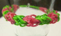 Rainbow Loom Diamond Pattern Rubber Band Bracelet!