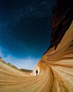 So many people miss the most beautiful time of day... The night.  Single 30 second exposure taken with the @GoPro #Hero4Silver.  Location: The Wave Arizona. by travisburkephotography