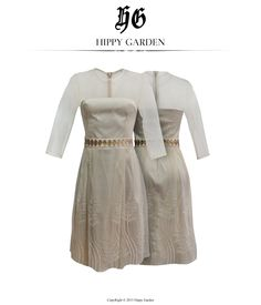 VINTAGE HALJINA  Elegantna haljina boje pjenušca s materijalom ukrašenim zlatnim pločicama i teksturom lišća djeluje poput izazovne vintage haljine iz bajke. Ovakav glamurozan look možete upotpuniti sa popularnim balerinkama i retro nakitom. Hippy Garden Showroom Masarykova 5 #hippygarden #design #fashion #vintage #gold #glamorous