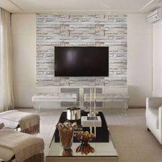 Papel de parede pedra canjiquinha mosaico em tons cinza, nude e bege com aparência rústica.Tamanho: 1 Rolo de 3m (altura) X 50cm (largura).